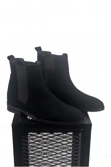 Süet Siyah Bot Ayakkabı
