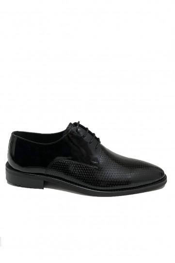Siyah Pul Detaylı Klasik Deri Ayakkabı