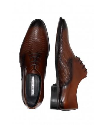 Fabia Losso Kahve Pullu Deri Ayakkabı