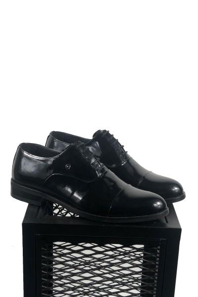 Rugan Siyah Deri Ayakkabı