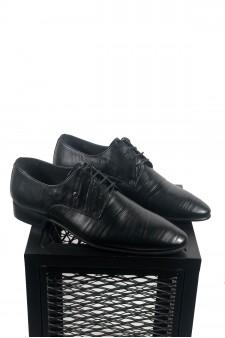 Hakiki Deri Su Yolu Desenli Klasik Ayakkabı