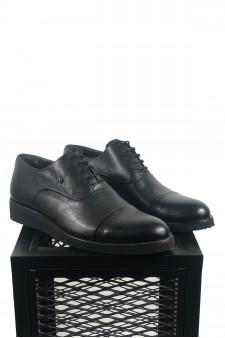 Hakiki Deri Siyah Eva Taban Ayakkabı